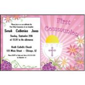 Girls First Communion Personalized Invitations