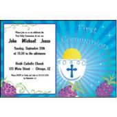 Boys First Communion Personalized Invitations