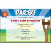 Silly Birds Personalized Invitations