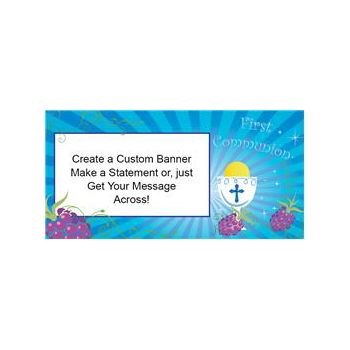 Boys Communion Custom Banner