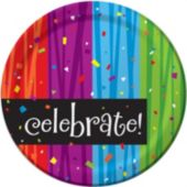 "Rainbow Celebration 7"" Plate - 8 Pack"