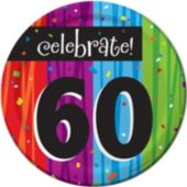 "Rainbow Celebration 60th Birthday 7"" Plates - 8 Pack"
