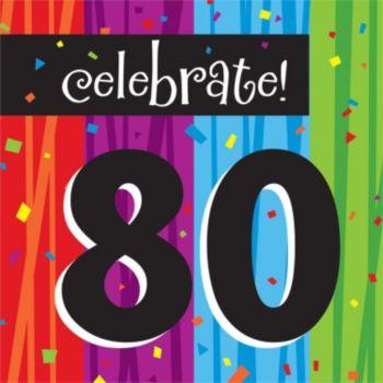 Rainbow Celebration  80th Lunch Napkins