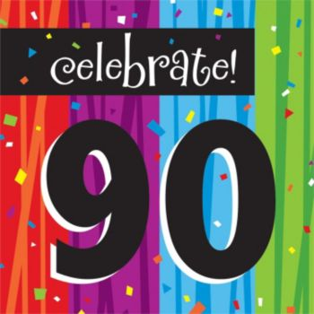 Rainbow Celebration  90th Lunch Napkins