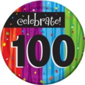 "Rainbow Celebration 100th Birthday 7"" Plate"