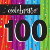 Rainbow Celebration 100th Birthday Lunch Napkins