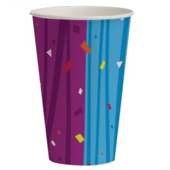 Rainbow Celebration   12 ounce Cups