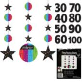 Rainbow Celebration Birthday Danglers-3 Pack
