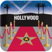"Hollywood Night 9"" Plates - 8 Pack"