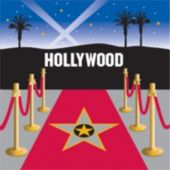 Hollywood Night Lunch Napkins - 16 Pack