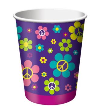 Retro Flowers 9oz Cups