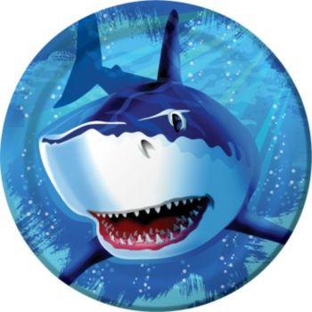 "Shark Splash 8 34"" Plates"