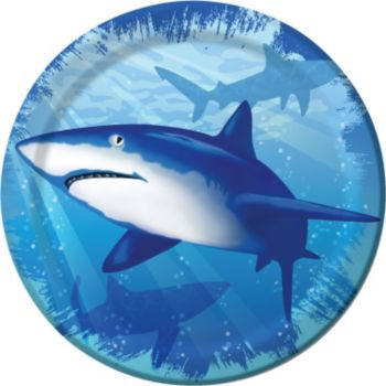 "Shark Splash 7"" Plates"