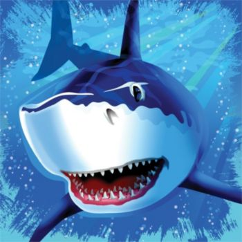 Shark Splash Lunch Napkins