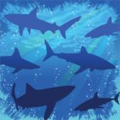 Shark Splash Beverage Napkins - 16 Pack