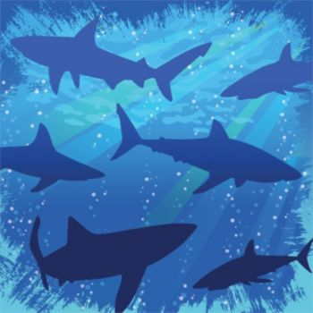 Shark Splash Beverage Napkins