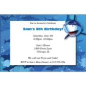 Shark Splash Personalized Invitations