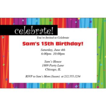 Rainbow Celebration Personalized Invitations