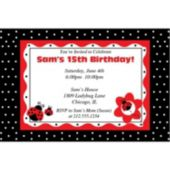 Lucky Ladybug  Personalized Invitations