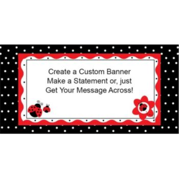 Lucky Little Ladybug Custom Banner