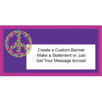 Retro Flower Custom Banner