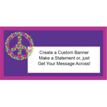 Retro Flower Custom Banner