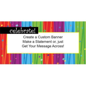 Rainbow Celebration Custom Banner