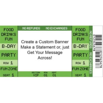 Green Ticket Custom Banner