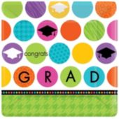 "Graduation Dots 10"" Plates - 18 Pack"