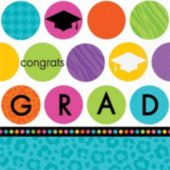 Graduation Dots Lunch Napkins - 36 Pack