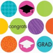 Graduation Dots Beverage Napkins - 36 Pack
