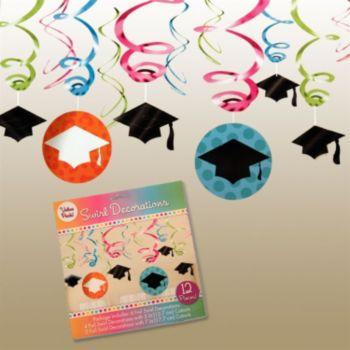 Graduation Dots Swirls