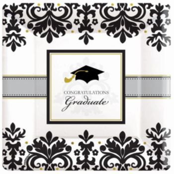 "Sophisticated Graduate 7"" Plates"