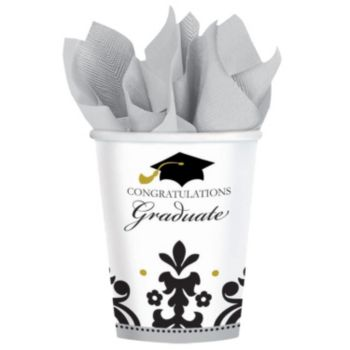 Sophisticated Graduate 9oz Cups