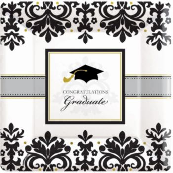 "Sophisticated Graduate 10"" Plates"