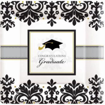 "Sophisticated Graduate 10"" Plates"