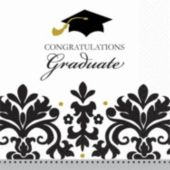 Sophisticated Graduate Beverage Napkins - 36 Pack