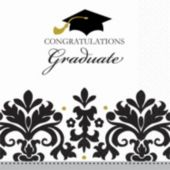 Sophisticated Graduate Lunch Napkins - 36 Pack