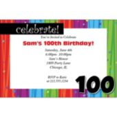 Rainbow Celebration  100 Personalized Invitations