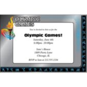 Olympic Blue  Personalized Invitations