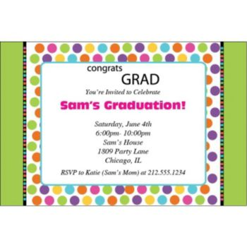Graduation Dots Personalized Invitations