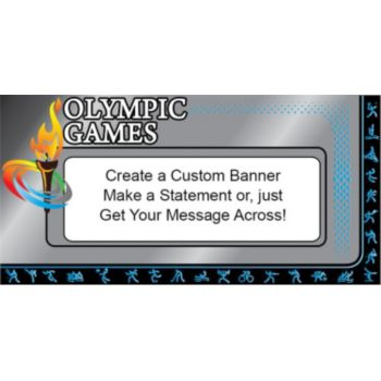 Olympic Blue Custom Banner