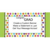 Graduation Dots Custom Banner
