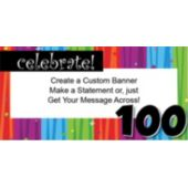 Rainbow Celebration 100 Custom Banner