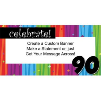 Rainbow Celebration 90 Custom Banner