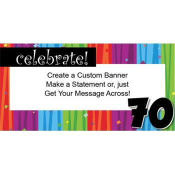 Rainbow Celebration 70 Custom Banner