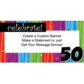 Rainbow Celebration 50 Custom Banner