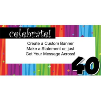 Rainbow Celebration 40 Custom Banner