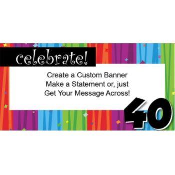 Rainbow Celebration 40 Custom Banner