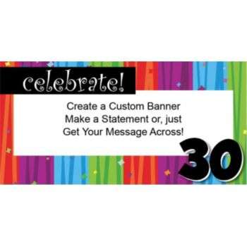 Rainbow Celebration 30 Custom Banner